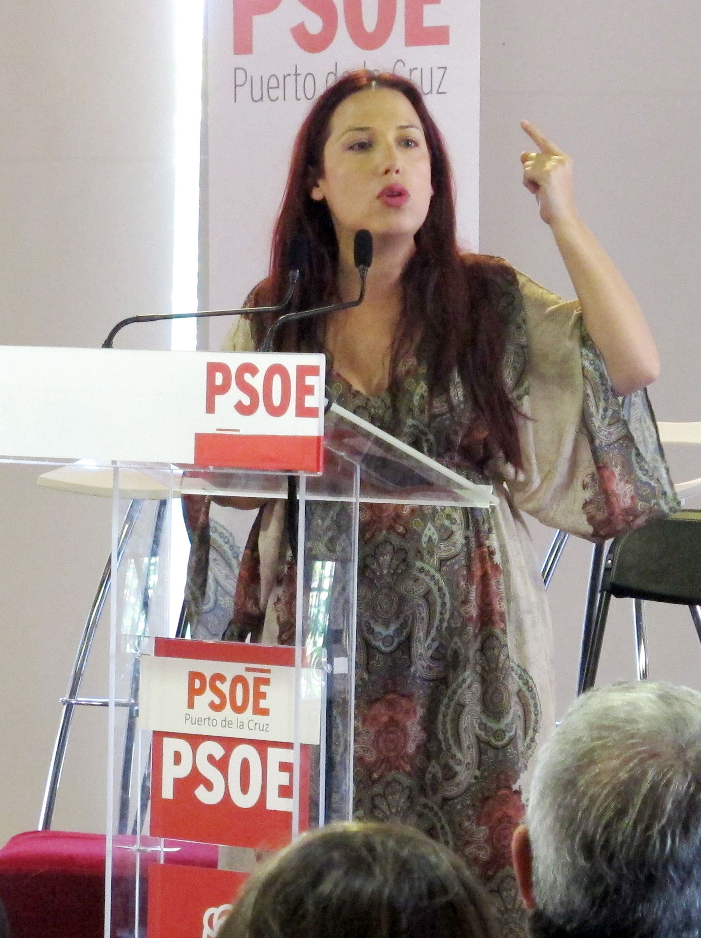 Patricia Hernández en Puerto de la Cruz