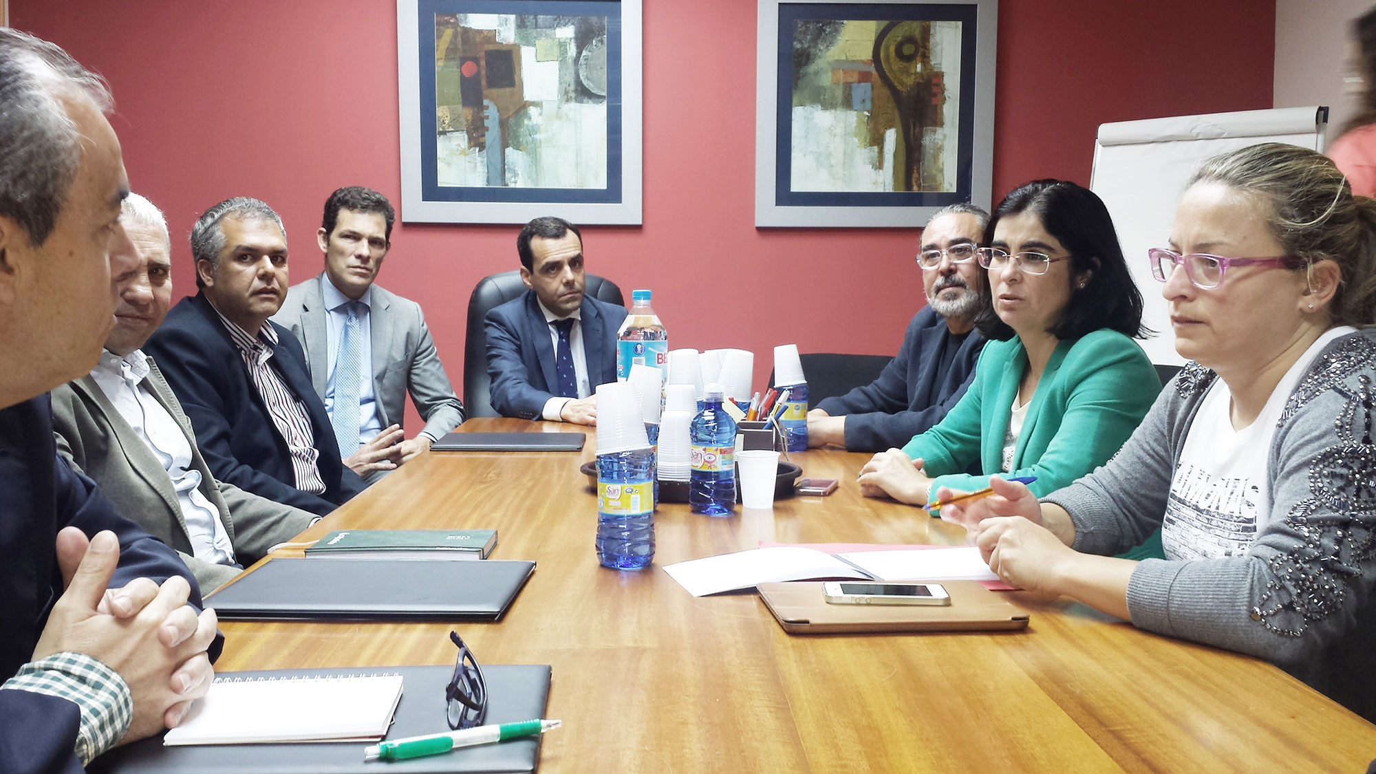 Reunión de Carolina Darias con Asescan