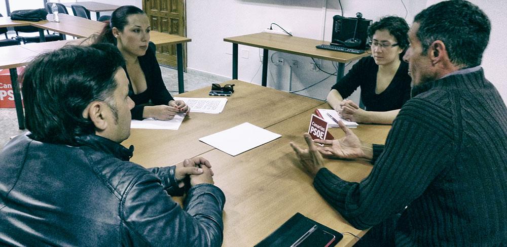 Patricia Hernández se reúne con la Plataforma Por Un Nuevo Modelo Energético Para Canarias