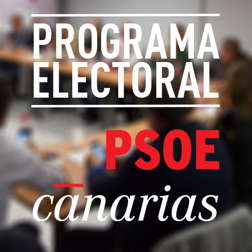 Programa electoral del PSOE de Canarias