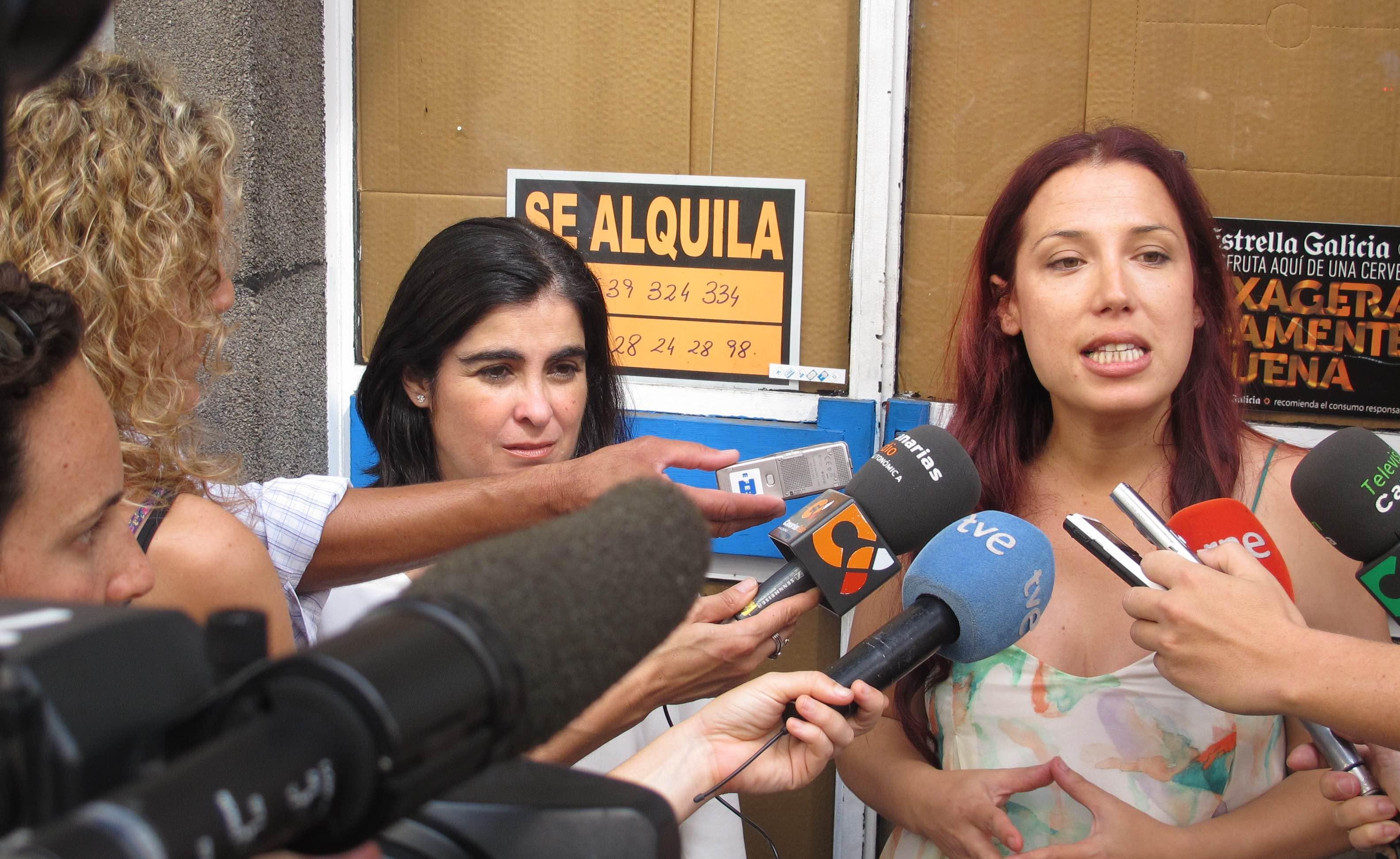 Patricia Hernández con el pequeño comercio