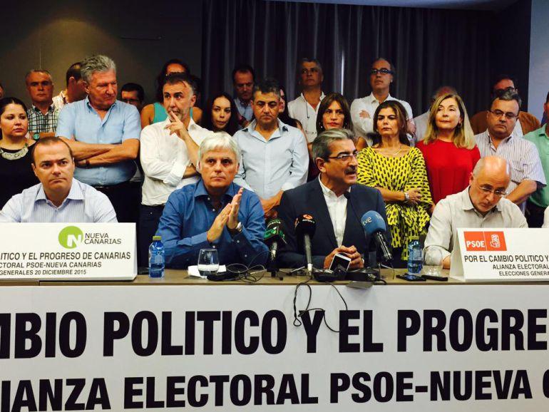 Pacto Nueva Canarias y PSOE de Canarias