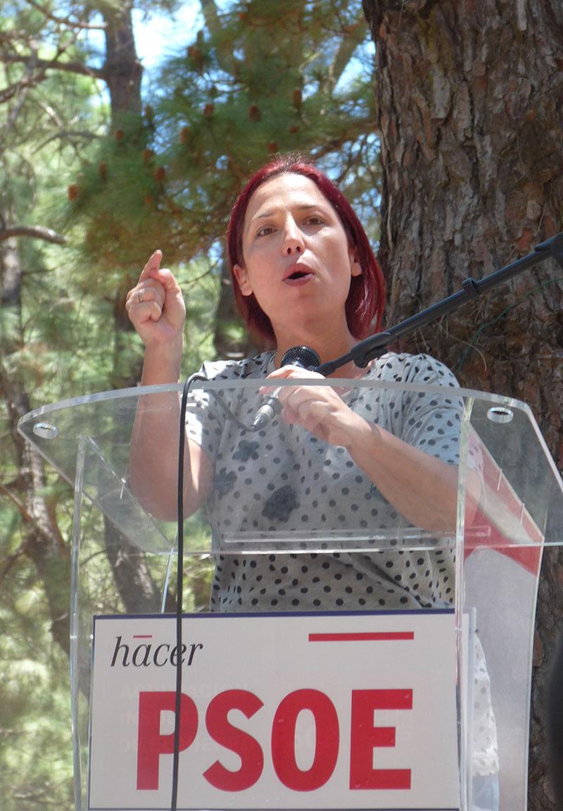 Patricia Hernández en El Hierro